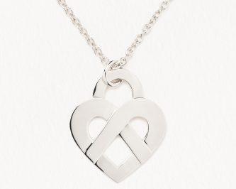 pendentif femme poiray coeur or blanc avignon 328514
