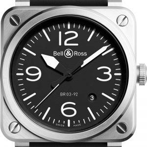 montre homme bell&ross automatique avignon BR0392-BLC-ST