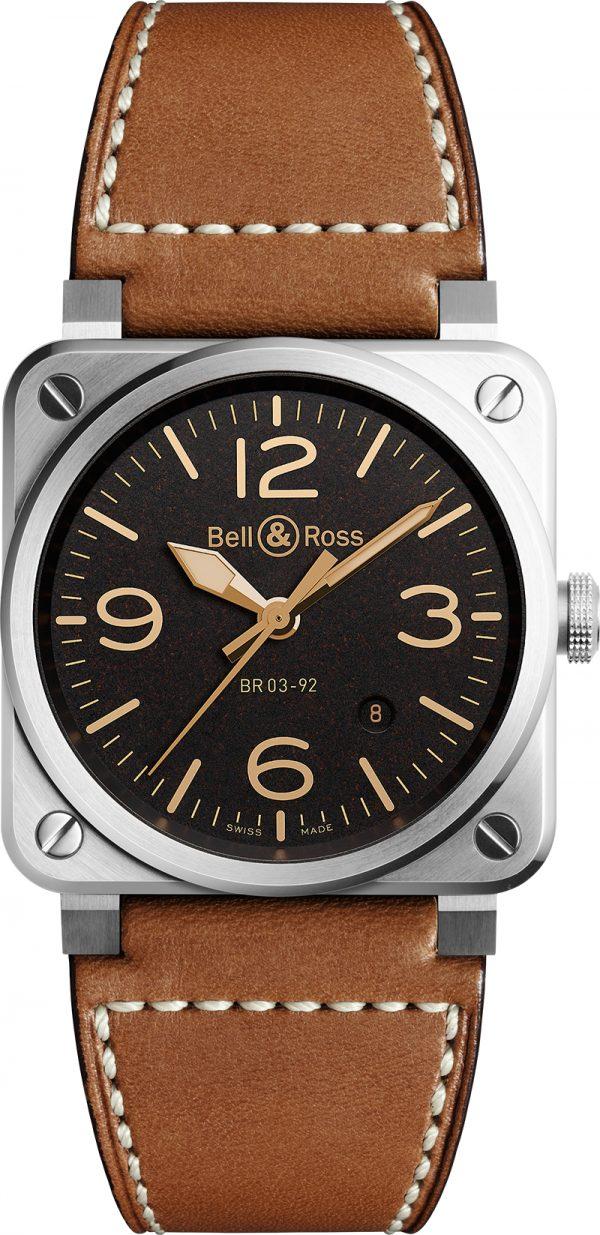 montre homme bell&ross br03-92 avignon BR0392-ST-G-HE-SCA