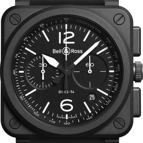 montre homme bell&ross chronographe chrono bv03-94 avignon BR0394-BL-CE