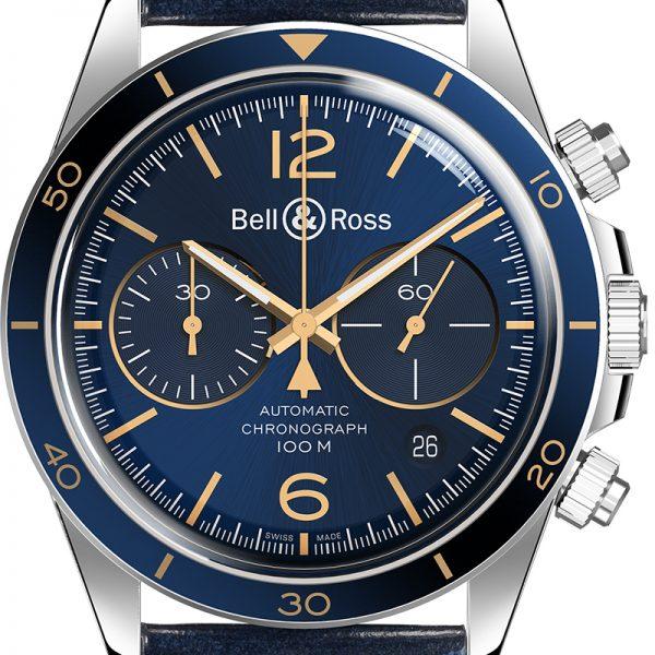 Montre homme bell&ross chrono avignon BRV294-BU-G-ST-SCA