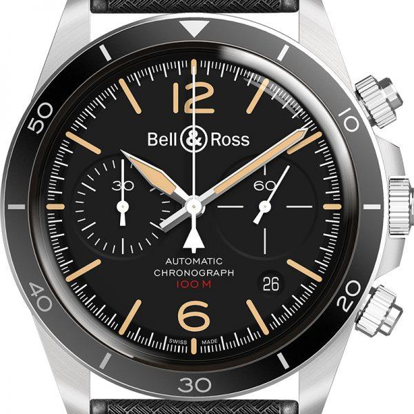 montre homme bell&ross chrono brv2-94 avignon BRV294-HER-ST-SRB