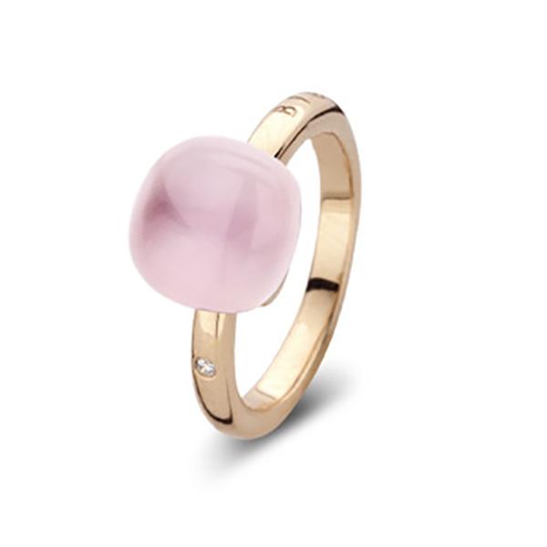 bague femme or rose quartz rose nacre avignon