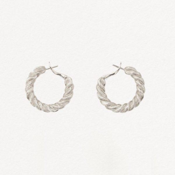 boucles d'oreilles femme or blanc avignon poiray